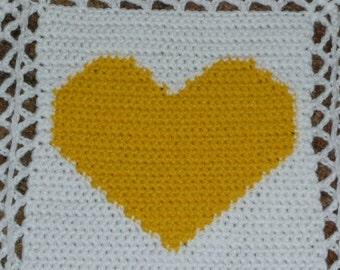 Hearts Baby Afghan - So Sweet - Crochet Afghan Blanket Throw