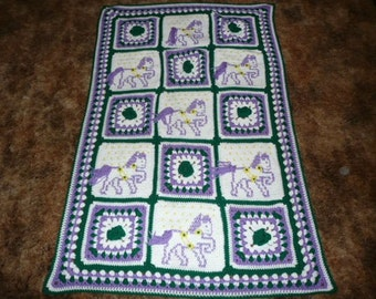 Baby Ponys sweet baby afghan blanket throw