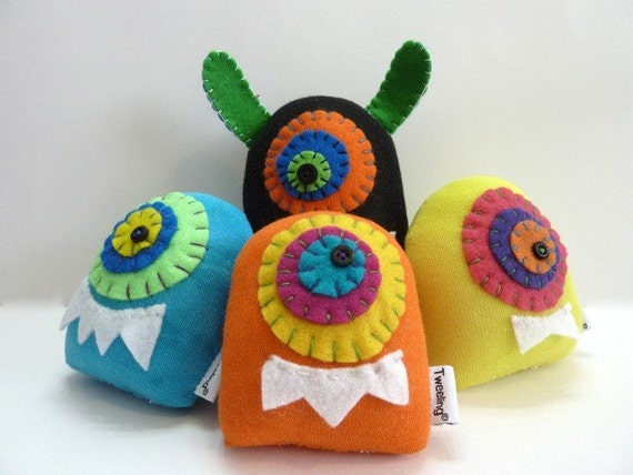 The Glink Family of Sock Aliens reserved for Margo