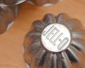 Vintage Set of 4 JELL-O Fluted Miniature Aluminum Jello Molds