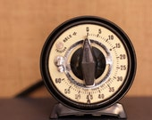Vintage Mark Time Small Round Darkroom One Minute Timer
