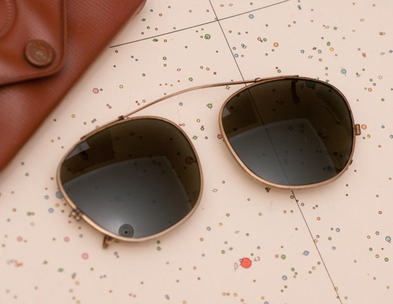 Vintage Ray-Ban Wayfarer Clip On Sunglasses by by ...