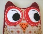 Sherlock Hoot Eco Felt Owl Plush Toy Owl Pillow Plush Art