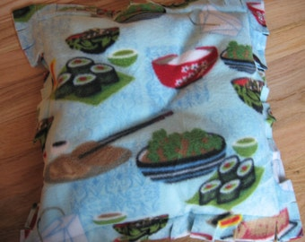 Nip-and-Nap Medium Sushi print Cat Pillow