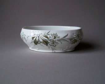 Antique Oval Ceramic Dish