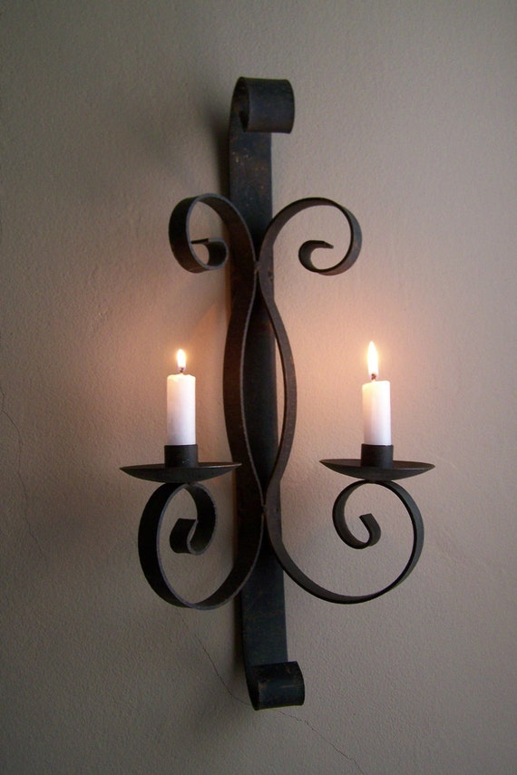 Black Iron Sconce/Candle Holder