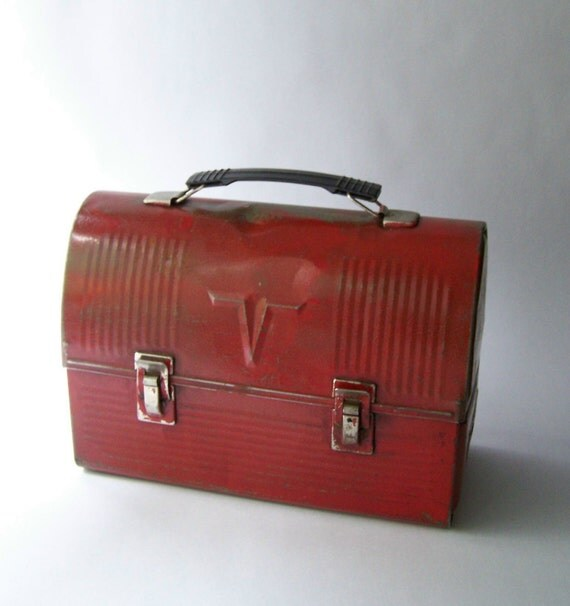 Vintage Lunch Box Red