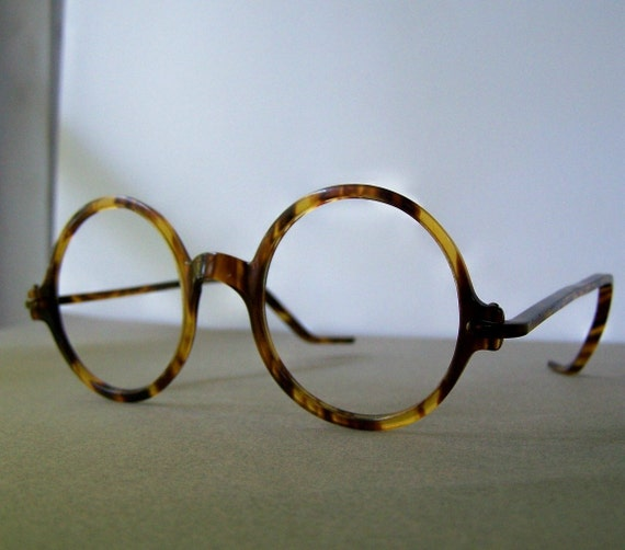 Vintage Tortoise Shell Eyeglass or Sunglass Round Frames