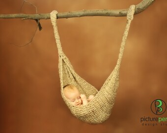 Wheat Baby Hammock, Sling, Pod  All In One  Photography Prop   ---READY TO SHIP---