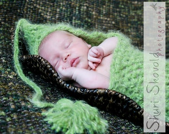 Textured Sweet Pea Pod Infant Photography Prop   ---READY TO SHIP---