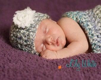 Chunky Newborn Hat In Seaside