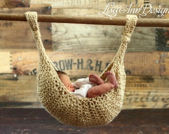 Wheat Baby Hammock, Sling, Pod  All In One  Photography Prop