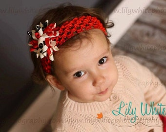 Patriotic Korker Alligator Clip Hair Bow and Headbands  ---3 Piece Set---  READY TO SHIP