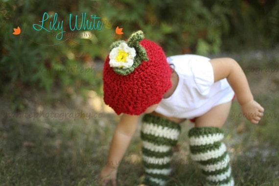 Strawberry Shortcake  Hat and Legwarmer  Photo Prop Set