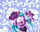 Kaffe Fasset Brokade Floral in Lavender for Rowan 1 yard
