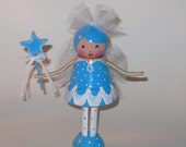 Fairy Ballerina Garden Girl Clothespin Doll