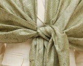 Pale sage and olive green paisley woven shawl, scarf, wrap, gifts, bridal gifts, bridesmaids gifts, wedding