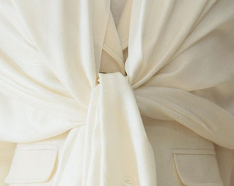 6 Clearance slightly defect Ivory pashmina shawl scarf wrap bridesmaid gifts