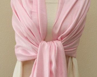 Weddings gifts, Light pink Pashmina bridesmaids shawl, bolero wrap, scarf, bridal bridesmaid gifts