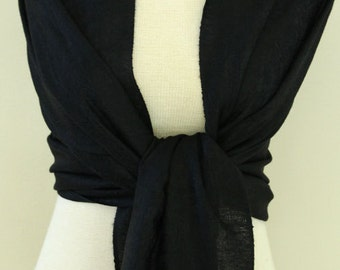 Black paisley pashmina bridal shawl, scarf, wrap, bridesmaid gifts, monogrammed gift