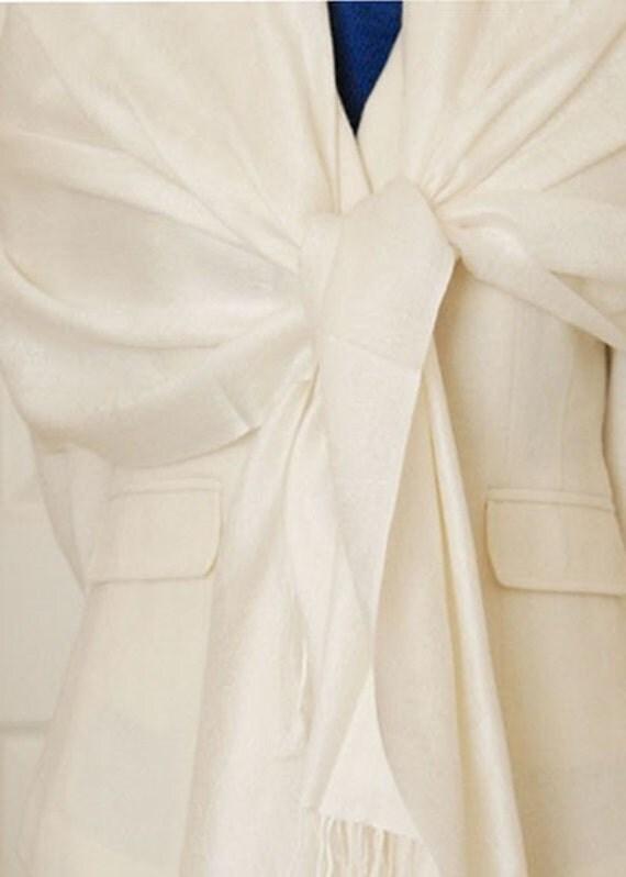 7 ivory paisley shawls with monogram