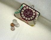 Coin Purse - Tan Coin purse - Change Purse - Cotton Coin Purse