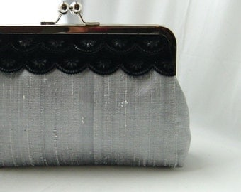 Wedding Clutch - Bridal Clutch - Wedding Purse - Gray Clutch - Bridesmaid Clutch - Bridesmaid Gift - Bridal Gift - Madison Clutch