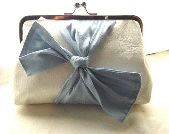 Wedding Clutch - Bridal Clutch - Blue Wedding Clutch - Bridesmaids Clutch - Bridesmaids Gifts  - Samantha Clutch