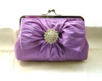 Bridal Clutch - Wedding Clutch - Lilac Bridal Clutch - Wedding Purse -Bridesmaid Clutch - Wedding Gifts - Chloe Clutch