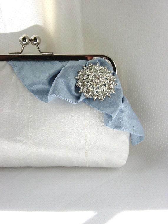 Wedding Clutch - Bridal Clutch - Bridesmaids Purse - White Bridal Clutch - Wedding Gifts - Bridemaids Gifts - Giselle Clutch
