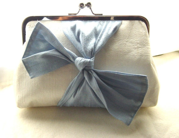 Wedding Clutch - Bridal Clutch - Blue Wedding Clutch - Bridesmaids Clutch - Bridesmaids Gifts  - Samantha Clutch