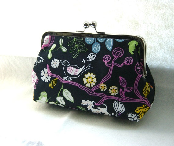 Navy Clutch Purse Bag  - Robin