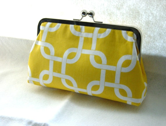 Bridesmaid Clutch - Bridesmaid Purse - Yellow Wedding Clutch -  Wedding Gifts - Wedding Purse - Daisy Clutch