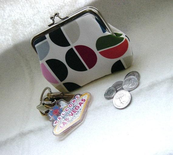 Coin Purse - Change Purse - Circles/Discs - Multi Color Coin Purse