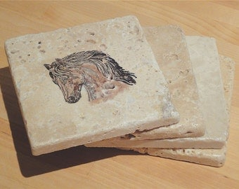 Fabulous Horse Coasters -- Set of 4