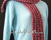 PDF Crochet Pattern ... Tumbling Cluster Autumn Scarf