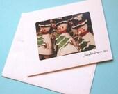 Box of 8, Snowmen Photo Cards