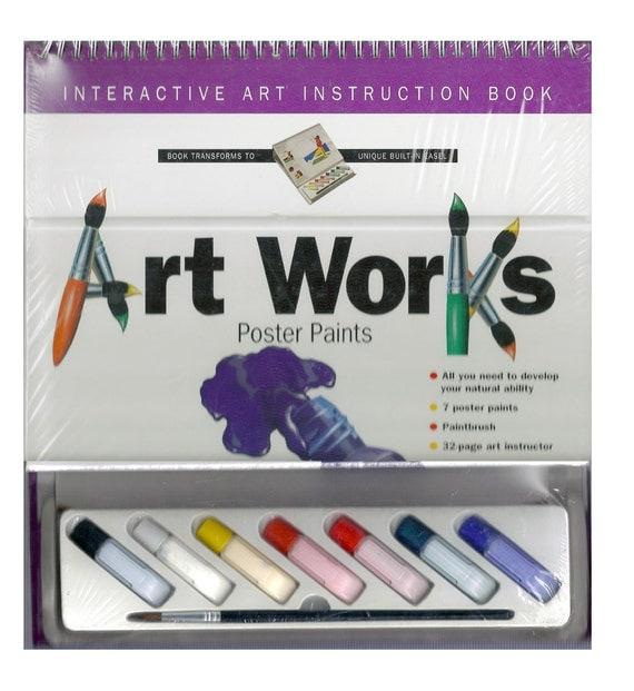 Art Work Interactive Art Instruction Book - Spiral-Bound - Easel, Canvas, Supplies, Supply, Tool, Craft
