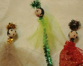 Retro Angel Gift Toppers/Christmas Decorations - Set of 4