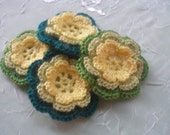 COTTON Crochet Applique Flowers...