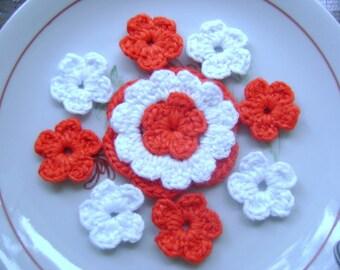 COTTON CROCHET  applique  flowers