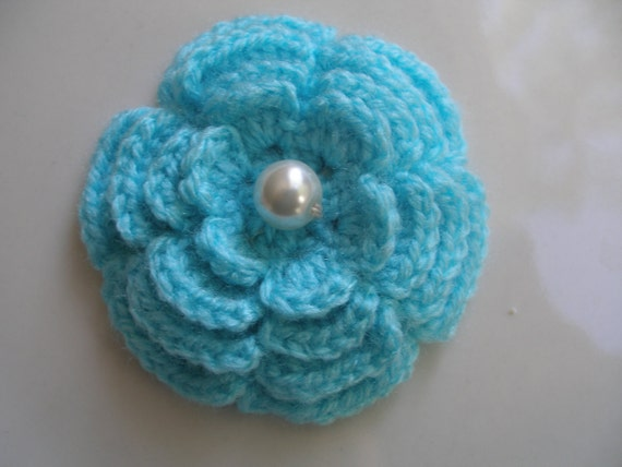 Crocheted Brooch Made With Handmade Wool...Crochet Pattern