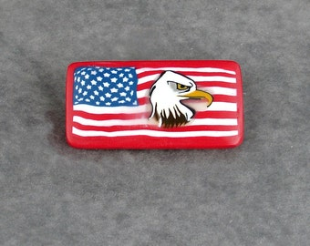 Patriotic American Flag Brooch