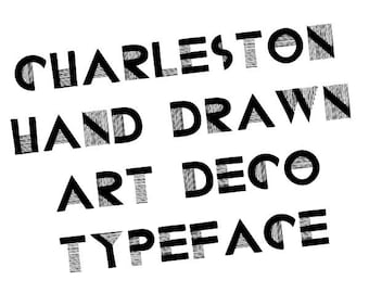 Hand drawn art deco font - Charleston