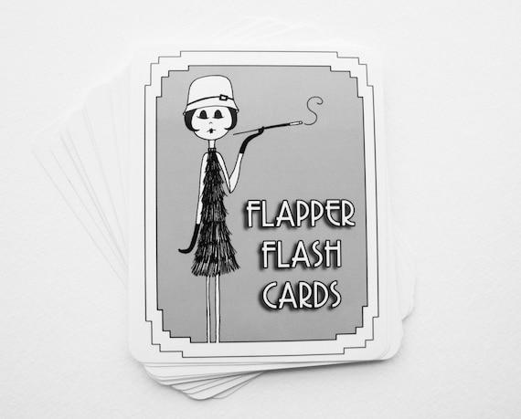 Flapper Flash Cards Learn to speak 1920s slang