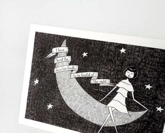 I have loved the stars too fondly // Astronomy PDF printable cards