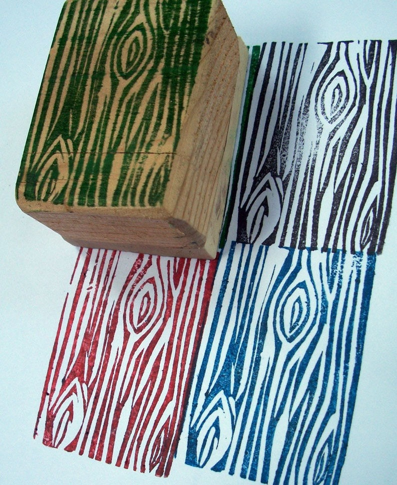 Wood Grain Hand Carved Stamp By Lovemary On Etsy