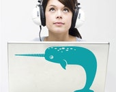 friendly narwhal laptop decal