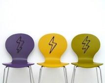 lightning bolt vinyl stickers, lightning bolt decals 3-pack, FREE SHIPPING