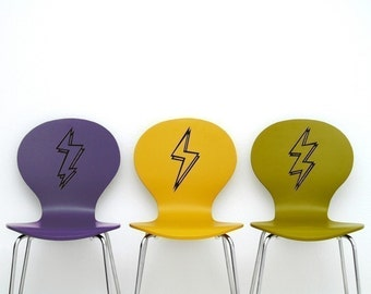 lightning bolt vinyl stickers, lightning bolt decals 3-pack, FREE SHIPPING
